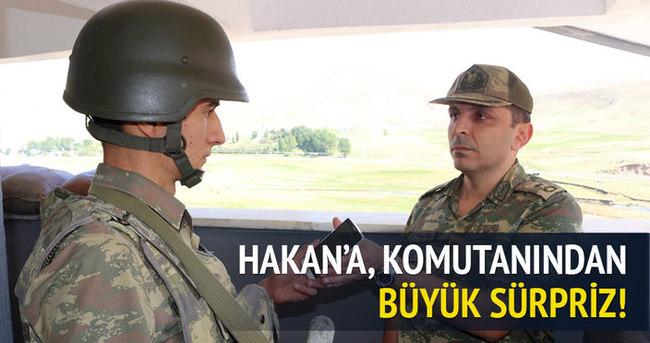 Ağrı'da askere büyük sürpriz!