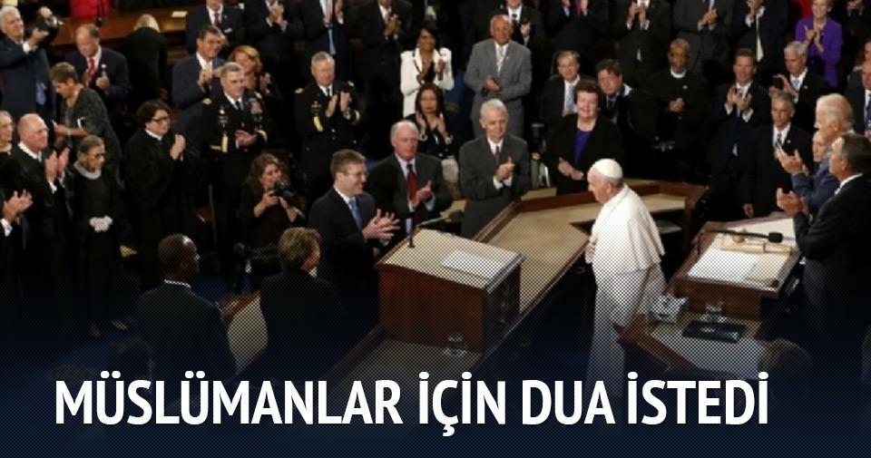 Papa, ABD senatosu'nda konuştu; Müslümanlara dua istedi