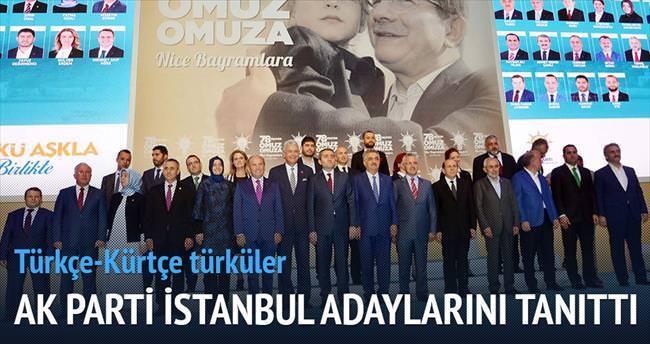 AK Parti, İstanbul adaylarını tanıttı