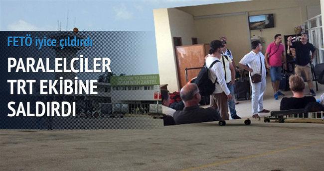 Paralelciler TRT ekibine saldırdı