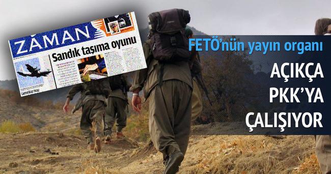 Zaman, açık açık PKK'ya çalışıyor
