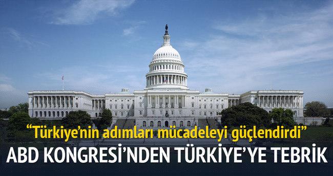 ABD Kongresi'nden Türkiye'ye tebrik