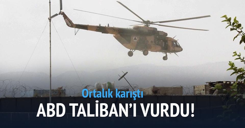 ABD Taliban'ı vurdu