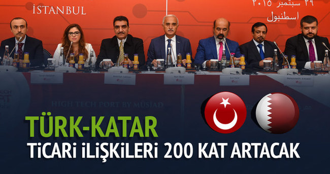 Türk-Katar ticari ilişkileri 200 kat artacak!