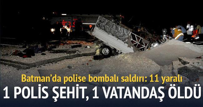 Polis aracına bombalı saldırı: 1 polis şehit, 1 vatandaş öldü 11 yaralı