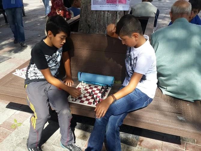 Karaman'da Satranç Sevgisi Sokaklara Taştı