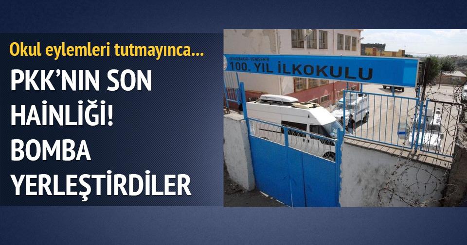 Diyarbakır'da PKK okula bomba tuzakladı