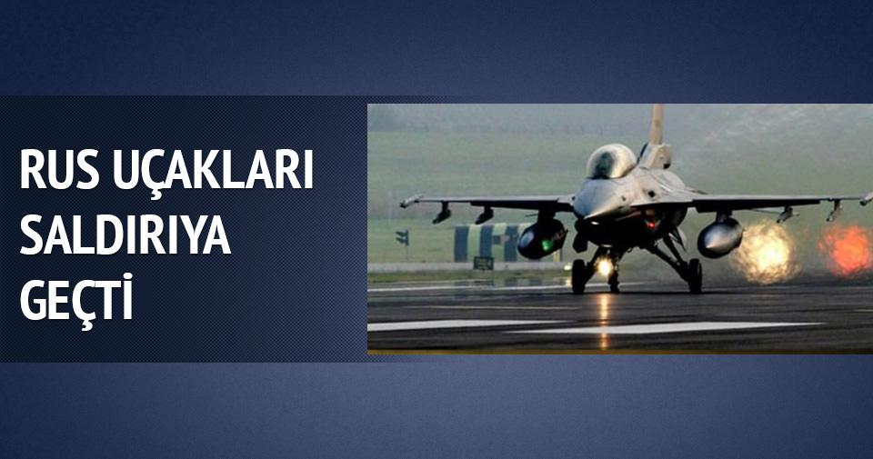 Rus uçakları Suriye'de saldırdı!