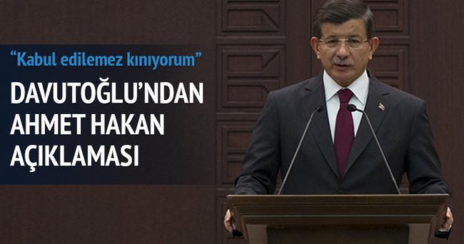 Davutoğlu'ndan Ahmet Hakan açıklaması