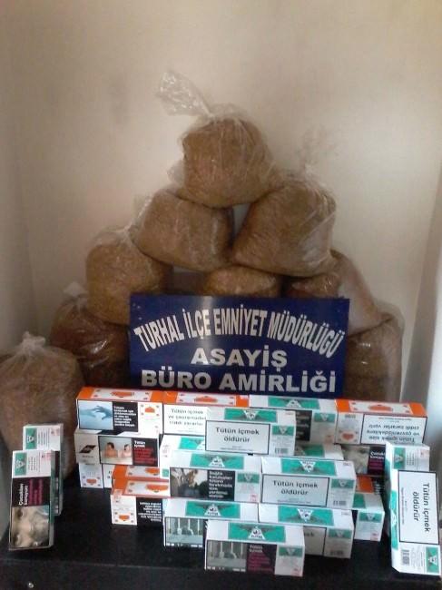 Turhal'da Kaçak Tütün Mamülleri Ele Geçirildi