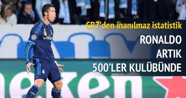Ronaldo artık 500'ler kulübünde