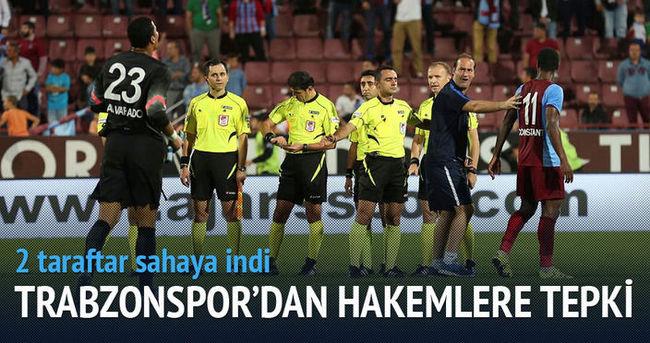 Trabzonspor'da hakemlere tepki