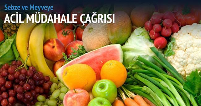 Meyve-sebze için acil önlem çağrısı