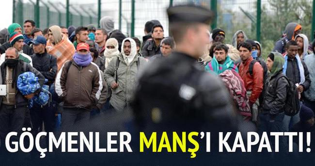 Göçmenler Manş tünelini kapattı