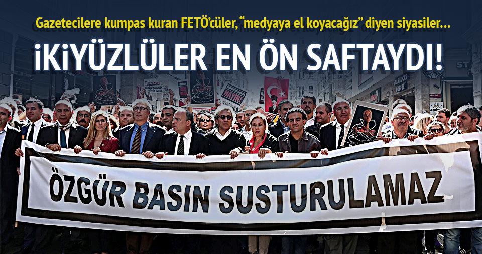 Taksim'de ikiyüzlüler ön saftaydı