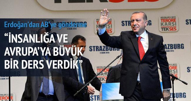 Erdoğan'dan AB'ye gönderme