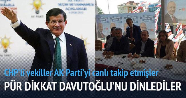 CHP'li vekiller AK Parti'nin seçim beyannamesini izledi