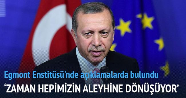 Erdoğan Belçika'da konuştu