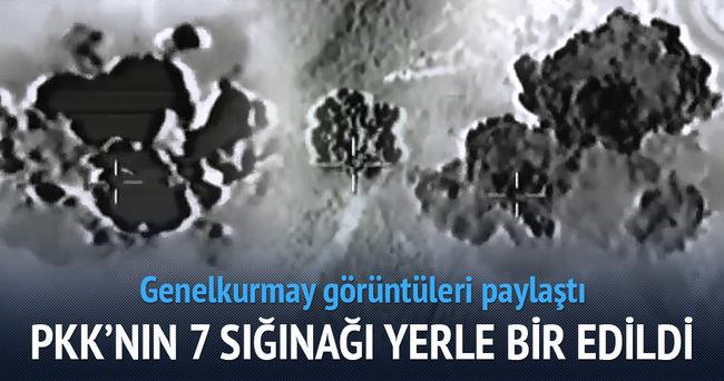 PKK'ya 7 ayrı noktada hava harekatı