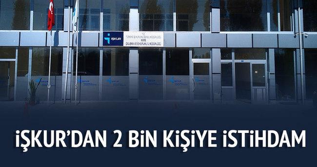 Mersin İŞKUR'dan 2 bin kişiye istihdam
