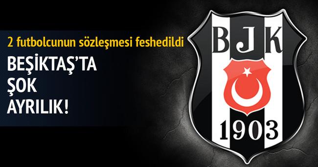 Beşiktaş'ta çifte ayrılık... 2 futbolcunun sözleşmesi feshedildi
