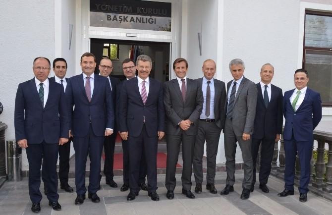 Garanti Bankası Genel Müdürü Ve Üst Düzey Yöneticileri Kayseri Şeker Ziyaretinde
