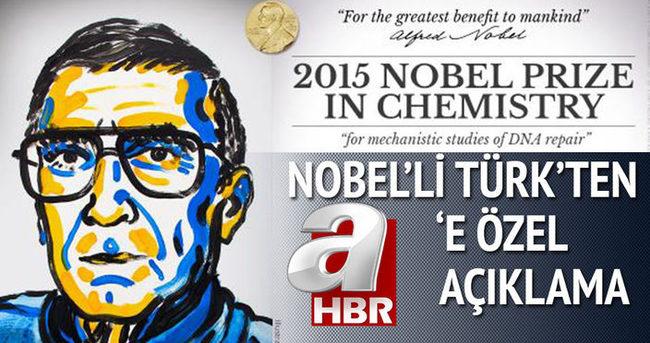 Nobel Ödüllü Aziz Sancar:  Başarımın büyük kısmını Türkiye'ye borçluyum