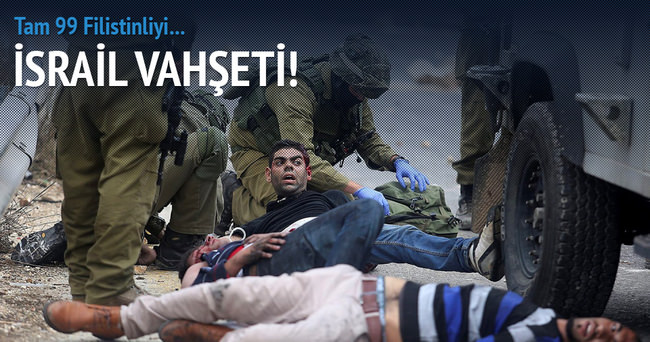 İsrail askeri Filistinlilere saldırdı: 99 yaralı