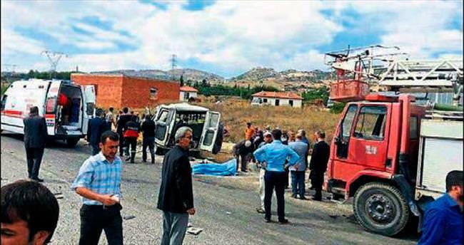 Burdur'da kaza: 3 ölü 13 yaralı
