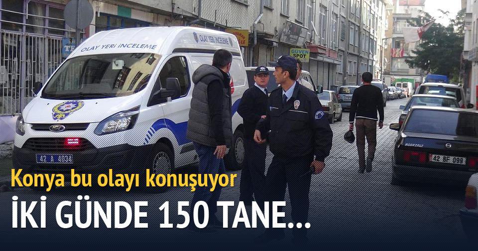 Konya'da iki günde 150 aracın lastiği kesildi
