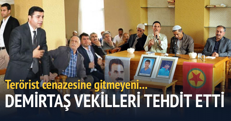 Demirtaş'tan HDP'li vekillere cenaze tehdidi