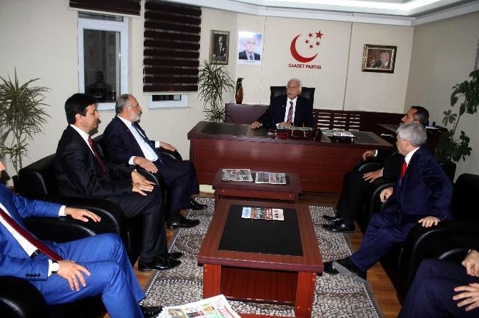 SP Genel Başkanı Kamalak'tan İl Başkanlığına Ziyaret