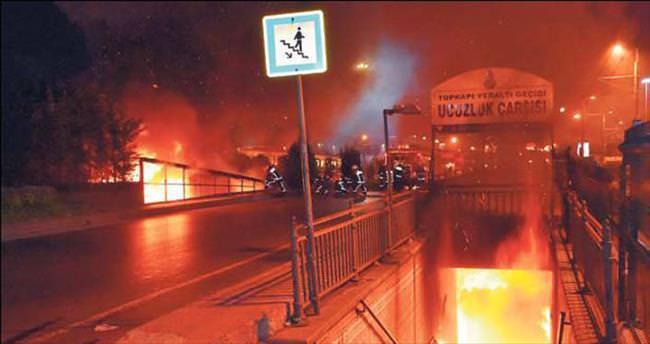Topkapı çarşısında korkutan yangın