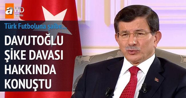Başbakan Davutoğlu'dan şike davası açıklaması