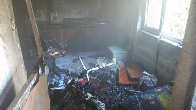Nazilli'de Ev Yangını