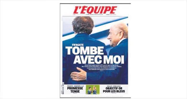 Platini ve Blatter'e ömür boyu men yolda