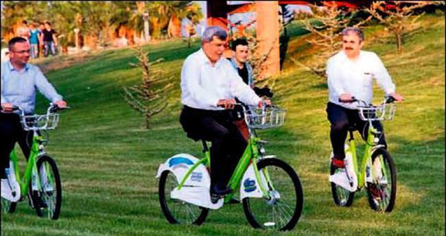 Sağlıklı yaşam için bisiklet çağrısı yaptı