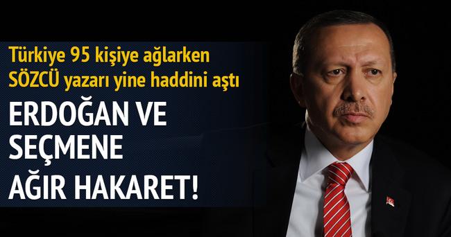 Sözcü yazarı Bekir Coşkun'dan Erdoğan ve seçmene ağır hakaret