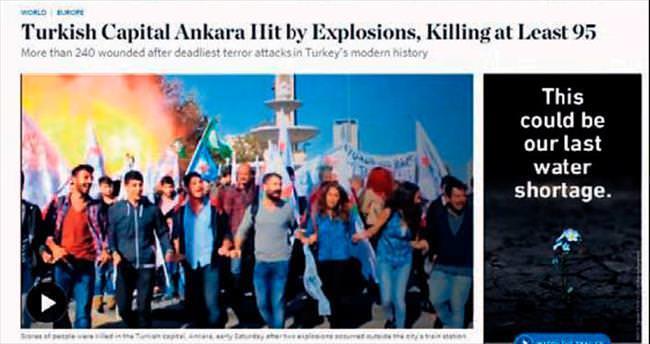 Dünya medyası: Ankara'daki saldırı seçimi hedef alıyor