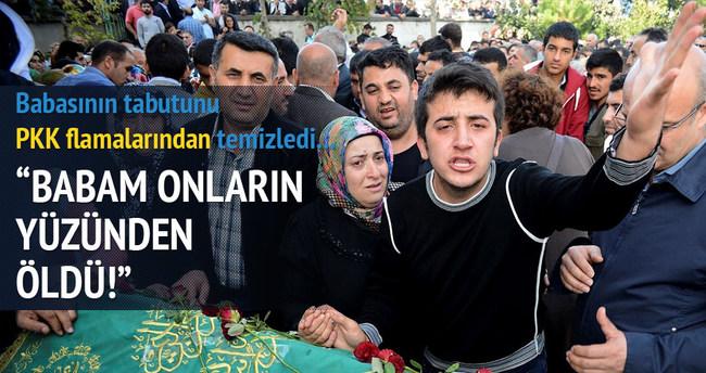 Cenaze töreninde PKK'ya tepki!