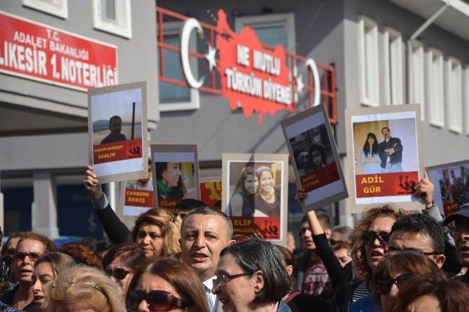 Balıkesir'de Terör Saldırısına Tepki Yürüyüşü