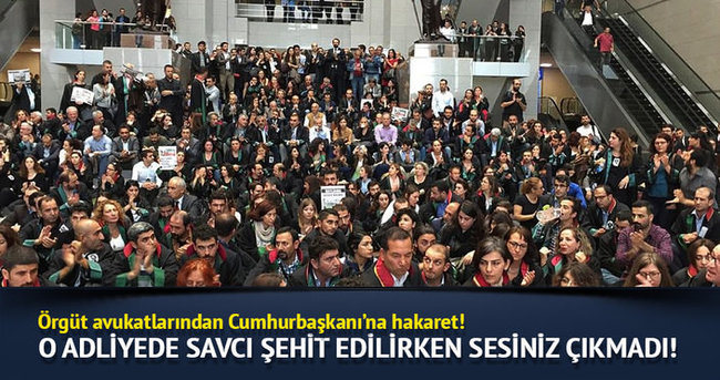 Çağlayan Adliyesi'nde avukatlardan Ankara protestosu