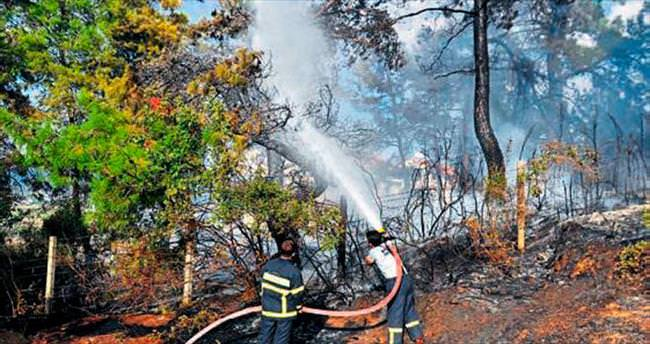 Tarihi mezarlıkta korkutan yangın