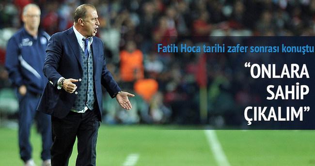 Tarihi zafer sonrası Fatih Hoca konuştu