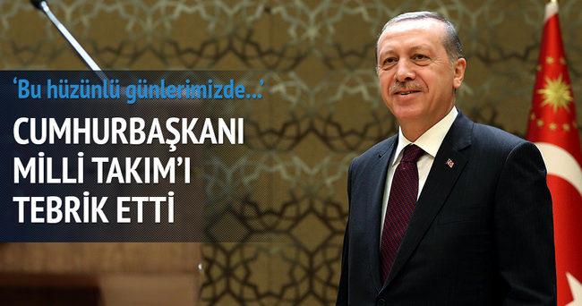 Cumhurbaşkanı Erdoğan'dan Millilere kutlama