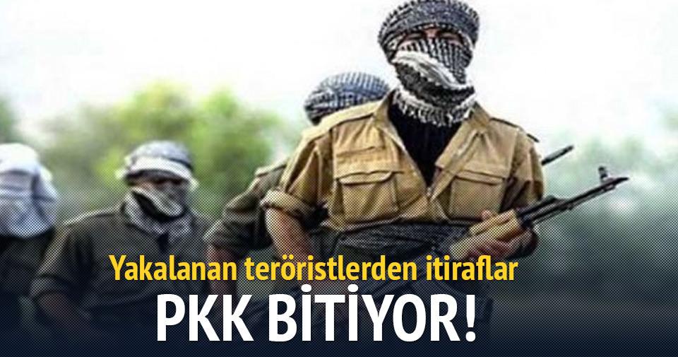 PKK'nın bitme noktasına geldiğini teröristler de itiraf etti