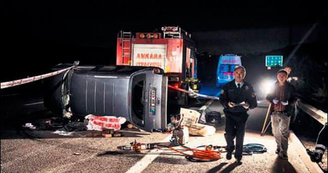 Başkentte trafik kazası: 2 ölü, 5 yaralı
