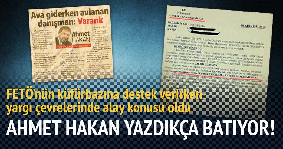 Ahmet Hakan yazdıkça batıyor!