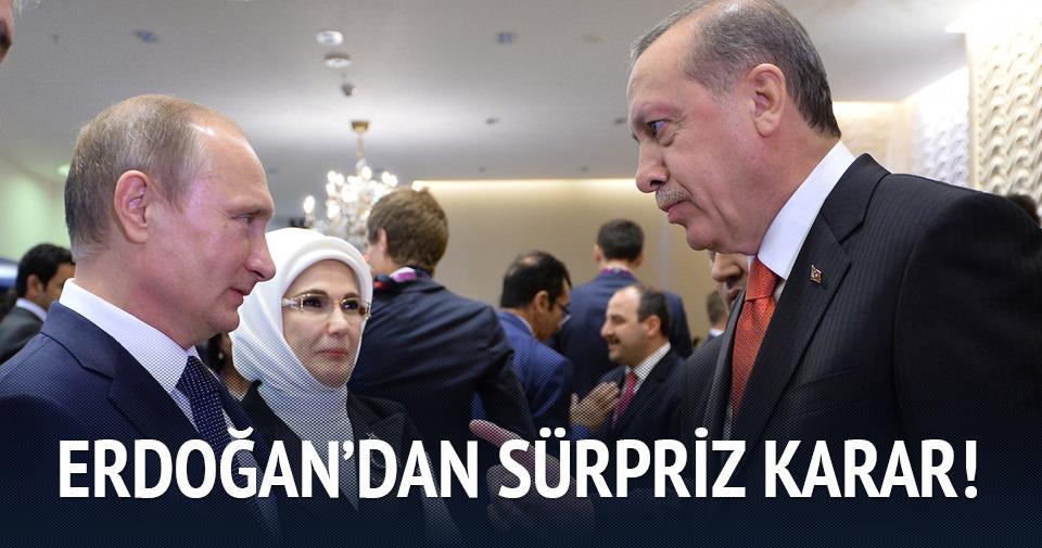 Erdoğan'dan sürpriz karar