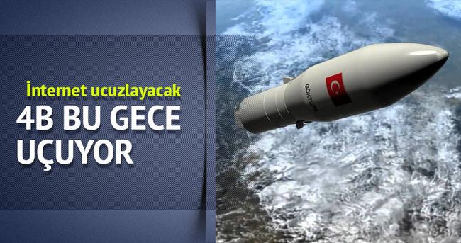 Türksat 4B uydusu bu gece fırlatılacak